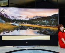 TV Layar Lengkung LG di CES 2014